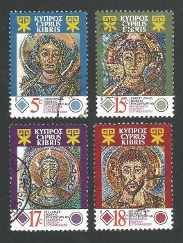 Cyprus Stamps SG 794-97 1991 Mosaics Kanakaria Church - USED (L317)