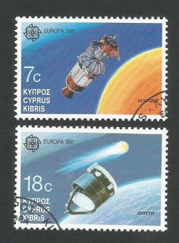 Cyprus Stamps SG 798-99 1991 Europa Space - USED (L318)