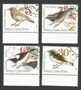 Cyprus Stamps SG 800-03 1991 Birds - CTO USED (L319)