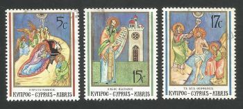 Cyprus Stamps SG 808-10 1991 Christmas - USED (L320)