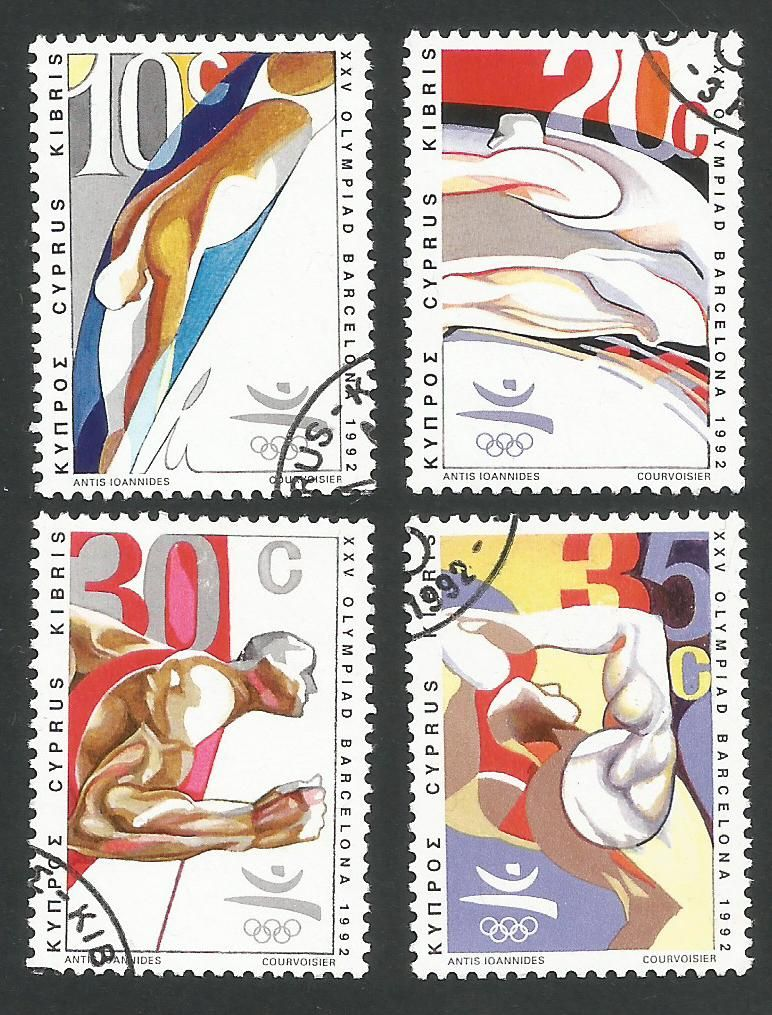 Cyprus Stamps SG 811-14 1992 Barcelona Olympic Games - USED (L321)
