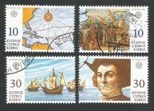 Cyprus Stamps SG 818-21 1992 Europa Discovery of America - USED (L323)