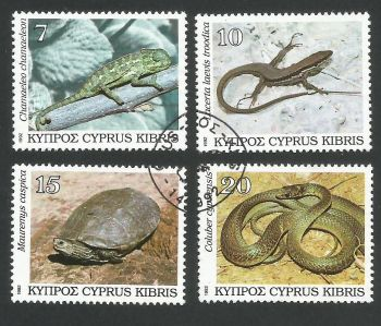 Cyprus Stamps SG 822-25 1992 Reptiles - USED (L324)