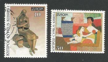 Cyprus Stamps SG 831-32 1993 Europa Art - USED (L329)
