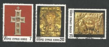 Cyprus Stamps SG 844-46 1993 Christmas Church Crosses - USED (L330)