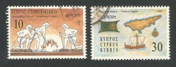 Cyprus Stamps SG 847-48 1994 Europa - USED (L334)