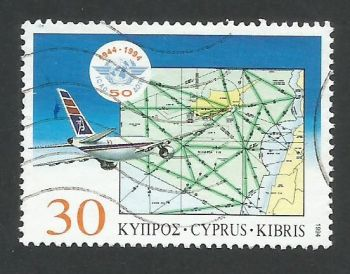 Cyprus Stamps SG 859 1994 50th Anniversary of the Civil Aviation organization - USED (L335)