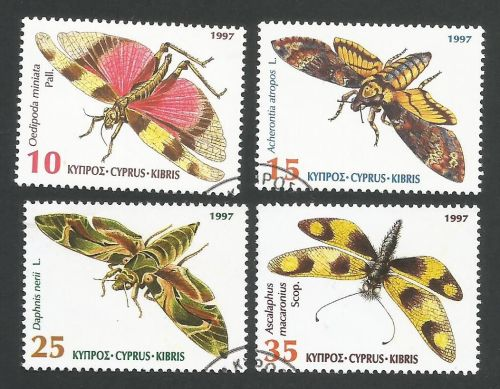 Cyprus Stamps SG 926-29 1997 Insects - USED (L344)