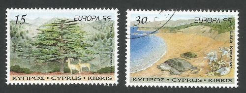 Cyprus Stamps SG 969-70 1999 Europa Parks and gardens - USED (L346)