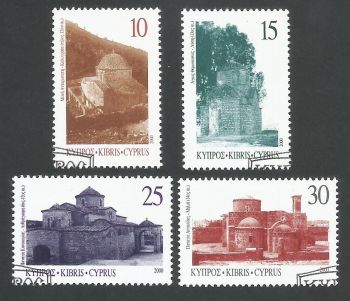 Cyprus Stamps SG 1000-03 2000 Greek Orthodox churches in northern Cyprus - USED (L349)