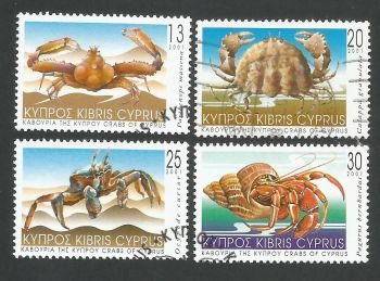 Cyprus Stamps SG 1017-20 2001 Crabs of Cyprus - USED (L353)