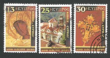 Cyprus Stamps SG 1021-23 2001 Christmas - USED (L354)