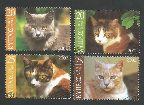 Cyprus Stamps SG 1025-28 2002 Cats - USED (L355)