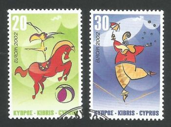 Cyprus Stamps SG 1029-30 2000 Europa Circus - USED (L356)