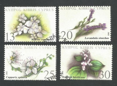 Cyprus Stamps SG 1031-34 2002 Medicinal Plants - USED (L357)