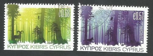 Cyprus Stamps SG 1246-47 2011 Europa Forests - USED (L359)