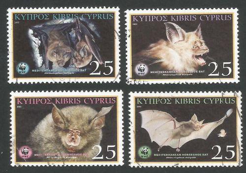 Cyprus Stamps SG 1053-56 2003 Mediterranean Horseshoe Bat - USED
