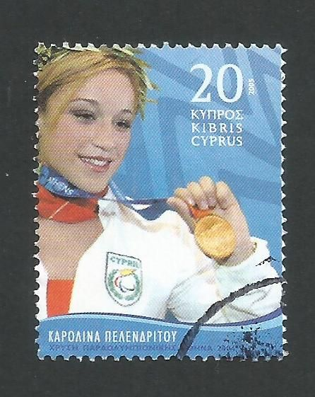 Cyprus Stamps SG 1093 2005 Paralympics Winner - USED (L368)