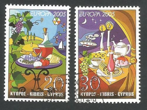 Cyprus Stamps SG 1096-97 2005 Europa Gastronomy - USED (L366)