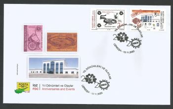 North Cyprus Stamps SG 2020 (c) Anniversaries and Events  - Official FDC