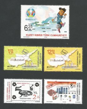 North Cyprus Stamps 2020 Complete Year Set - MINT