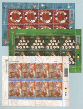 Cyprus Stamps SG 2020 (j) Christmas - Full Sheets MINT