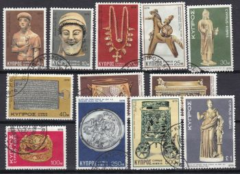 Cyprus Stamps SG 459-70 1976 4th Definitives Artifacts - USED (L390)