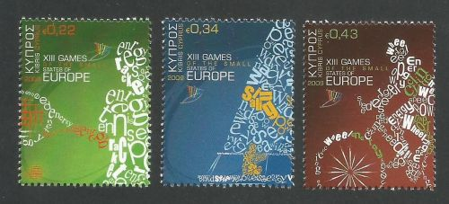 Cyprus Stamps SG 1190-92 2009 XIII Games of the Small States of Europe - MI