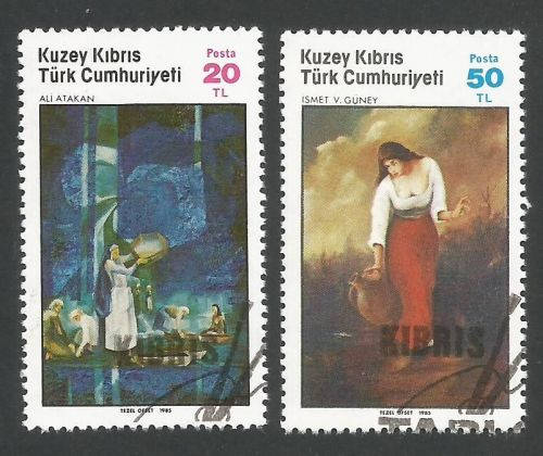 North Cyprus Stamps SG 176-77 1985 Art 4th Series - CTO USED (L407)