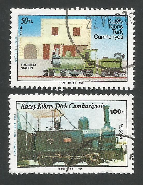 North Cyprus Stamps SG 202-03 1986 Cyprus Railway - USED (L425)