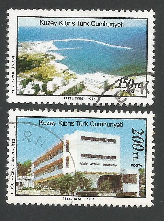 North Cyprus Stamps SG 223-24 1987 Modern development 2nd Series - USED (L4