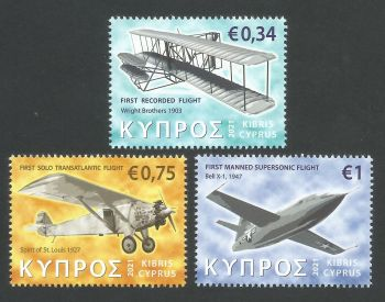 Cyprus Stamps SG 2021 (a) Aeroplanes - MINT