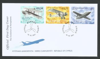 Cyprus Stamps SG 2021 (a) Aeroplanes - Official FDC