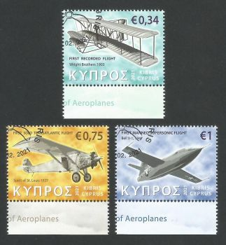 Cyprus Stamps SG 2021 (a) Aeroplanes - CTO USED (L505)