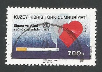 North Cyprus Stamps SG 274 1990 700 TL - USED (467)