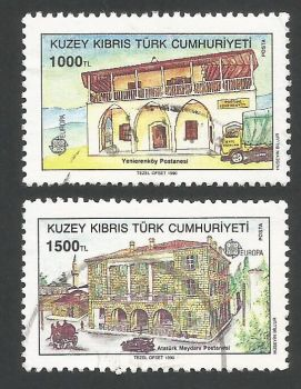 North Cyprus Stamps SG 275-76 1990 Europa Post Office - USED (L468)