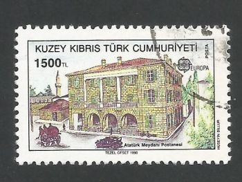 North Cyprus Stamps SG 276 1990 1500 TL - USED