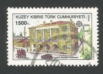 North Cyprus Stamps SG 276 1990 1500 TL - USED (L470)