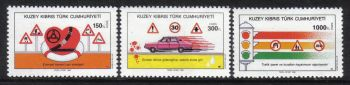 North Cyprus Stamps SG 289-91 1990 Road Safty - MH
