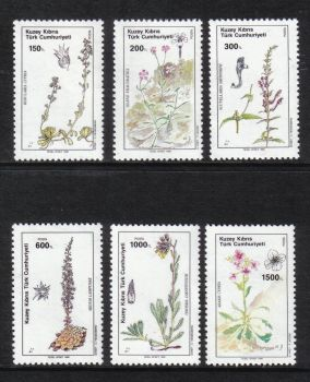 North Cyprus Stamps SG 293-298 1990 Plants - MH