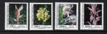 North Cyprus Stamps SG 311-14 1991 Orchids Flowers (2nd Series) - MH