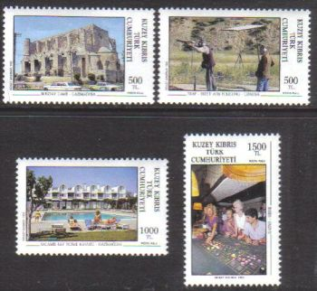 North Cyprus Stamps SG 330-33 1992 Tourism 2nd Series - MH