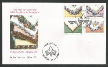 North Cyprus stamps SG 520-23 2000 Traditional Handicrafts - Official FDC