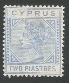 Cyprus Stamps SG 013 1881 2 Piastre Blue - MLH (L536)