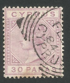 Cyprus Stamps SG 017 1882 30 Paras - USED (L528)