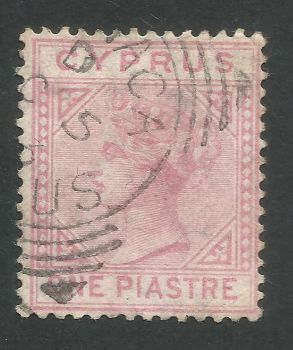Cyprus Stamps SG 012 1881 One Piastre - USED (L532)