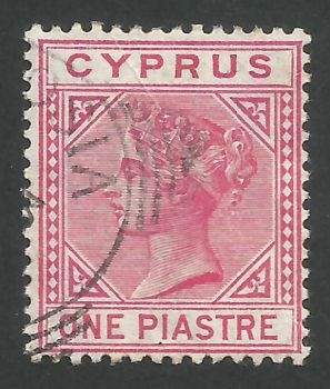 Cyprus Stamps SG 018 1883 One 1 Piastre - USED (L527)