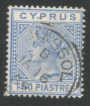 Cyprus Stamps SG 019 1883 Two Piastres - USED (L526)