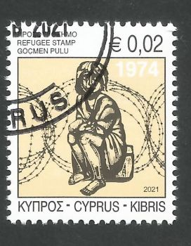Cyprus Stamps 2021 Refugee Fund Tax - CTO USED (L542)