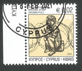 Cyprus Stamps 2021 Refugee Fund Tax - CTO USED (L543)
